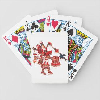 Guerrier aztèque de chaman de danse jeu de poker