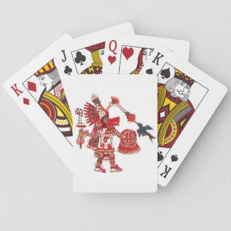 Guerrier aztèque de chaman de danse jeux de cartes