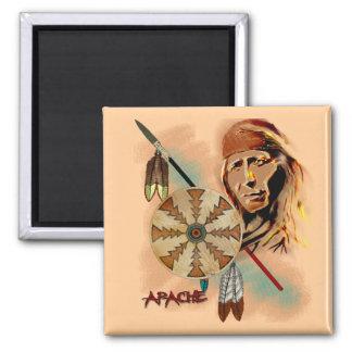 Guerrier d'Apache Magnet Carré