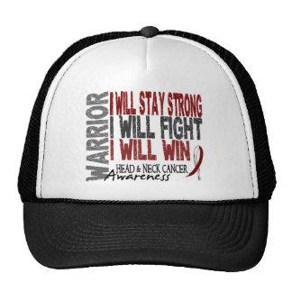 Guerrier de cancer de la tête et du cou casquette de camionneur