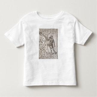 Guerrier de Susquehannock, détail de carte de la T-shirt