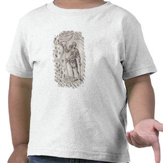 Guerrier de Susquehannock, détail de carte de la V T-shirts
