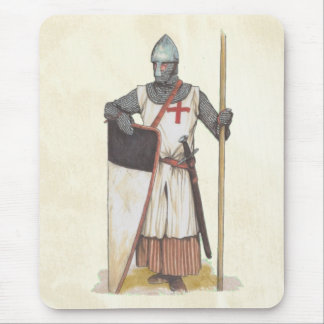 Guerrier médiéval de Templar de chevaliers Tapis De Souris