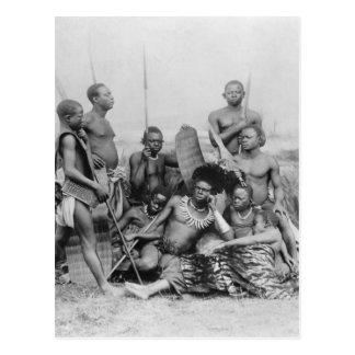 Guerriers, Congo belge, 1894 Carte Postale