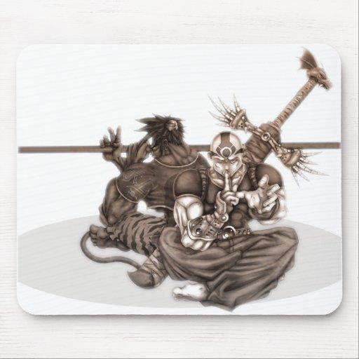 Guerriers de Manga d'imaginaire Tapis De Souris