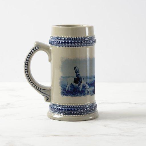 Guerriers vintages Stein en céramique grunge de Ch Tasse