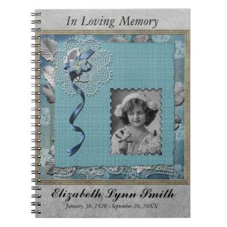 Guestbook de photo personnalisé par mémorial carnets à spirale