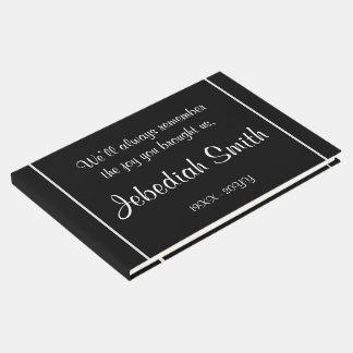 Guestbook élégant d'enterrement de sympathie livre d'or