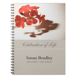 GuestBook floral d'enterrement de photographie de Carnet