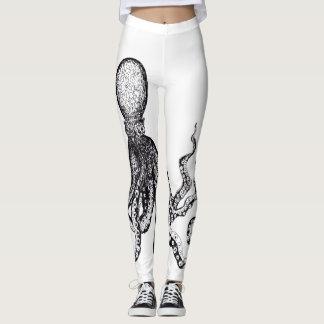 Guêtres blanches de poulpe leggings
