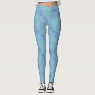 Guêtres bleues leggings