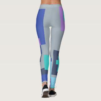 Guêtres colorées de formes leggings