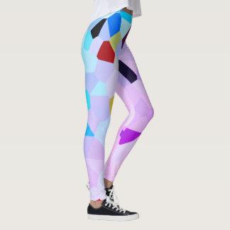 Guêtres colorées de style de mosaïque leggings