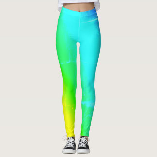 Guêtres colorées multi d'arc-en-ciel leggings