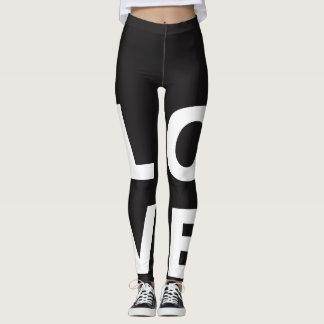 Guêtres customisées d'amour leggings