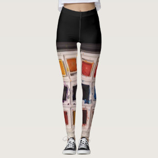 Guêtres d'aquarelle leggings