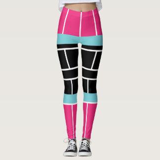 Guêtres de bloc de couleur de bretelles de leggings