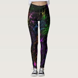 Guêtres de conception d'éclaboussure leggings
