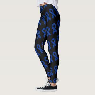Guêtres de coutume de ruban bleu leggings