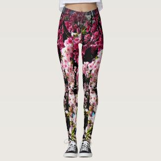 Guêtres de fleurs de cerisier leggings