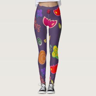 guêtres de fruit de fleur leggings