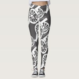Guêtres de logo de canon de bidon leggings