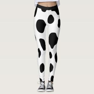 Guêtres de motif de taches de vache leggings