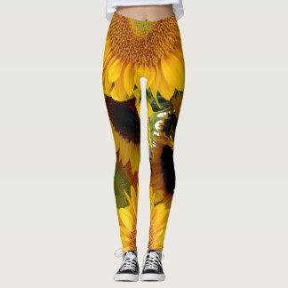 Guêtres de tournesol courant le pantalon pulsant leggings