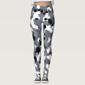 Guêtres grises de coutume de camouflage leggings