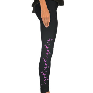 Guêtres pourpres de dames de papillon leggings