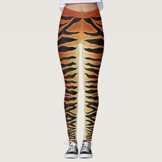 Guêtres rayées de tigre leggings