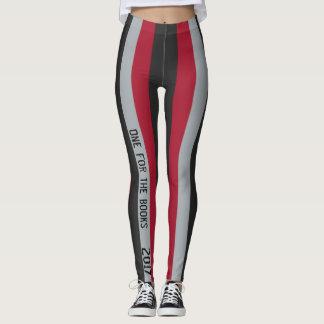 Guêtres rayées rouges et noires leggings