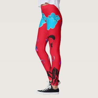 Guêtres rouges de lutin de parapentisme leggings