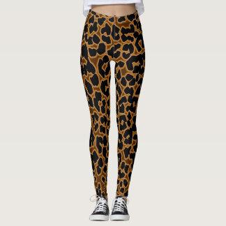 Guêtres sexy de collants modelées par léopard