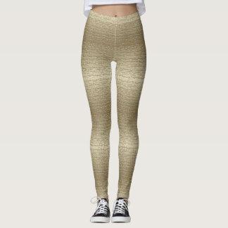 Guêtres texturisées d'or frais leggings