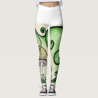 Guêtres tourbillonnantes de champignon leggings