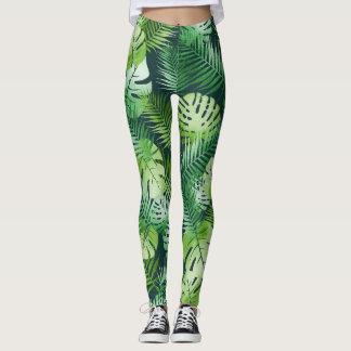 Guêtres tropicales de feuille leggings