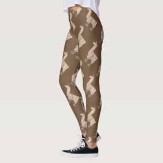 Guêtres velues de lama leggings