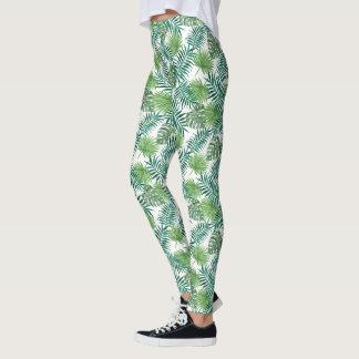 Guêtres vertes de palmettes leggings
