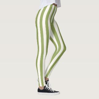 Guêtres vertes verticales faites sur commande de leggings