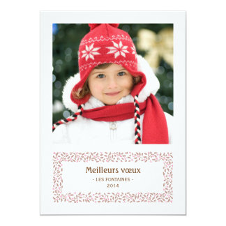 gui de Noël carte de photo de vacances Carton D'invitation 12,7 Cm X 17,78 Cm