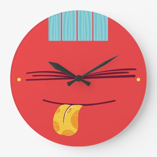 Guiara_clock bad education grande horloge ronde