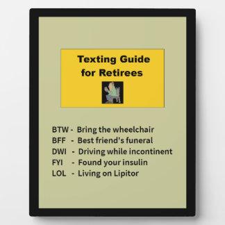 Guide de service de mini-messages pour des plaque photo