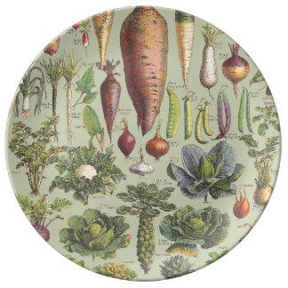 Guide français du jardin assiettes en porcelaine