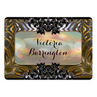 """Guildrue 2,5"""" bordé rond professionnel de perle cartes de visite personnelles"""