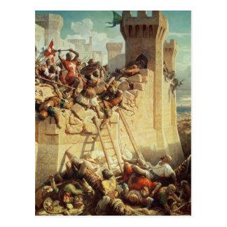 Guillaume De Clermont défendant Ptolemais Carte Postale