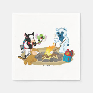 Guimauves de feu de camp de Webkinz | Serviette Jetable