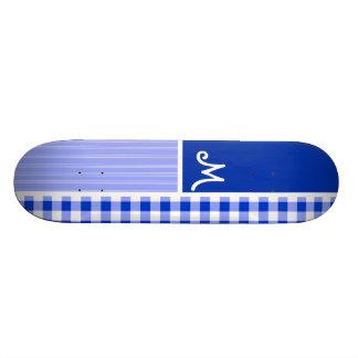 Guingan bleu ; Checkered Plateaux De Planche À Roulettes