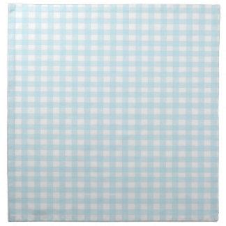 Guingan bleu serviettes imprimées