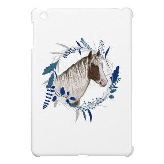 Guirlande bleue peinte de vacances de cheval coques iPad mini